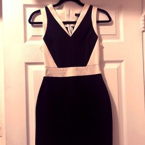Black and white Banana Republic dress